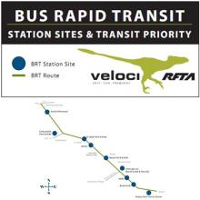 Colorado's Roaring ForK Transportation Authority's VelociRFTA bus rapid transit service is one of the projects receiving federal funds